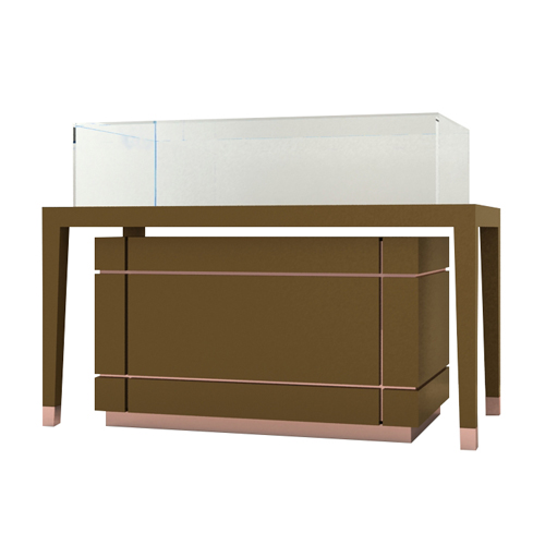 Fully Assembled Jewelry Counter Display Cases