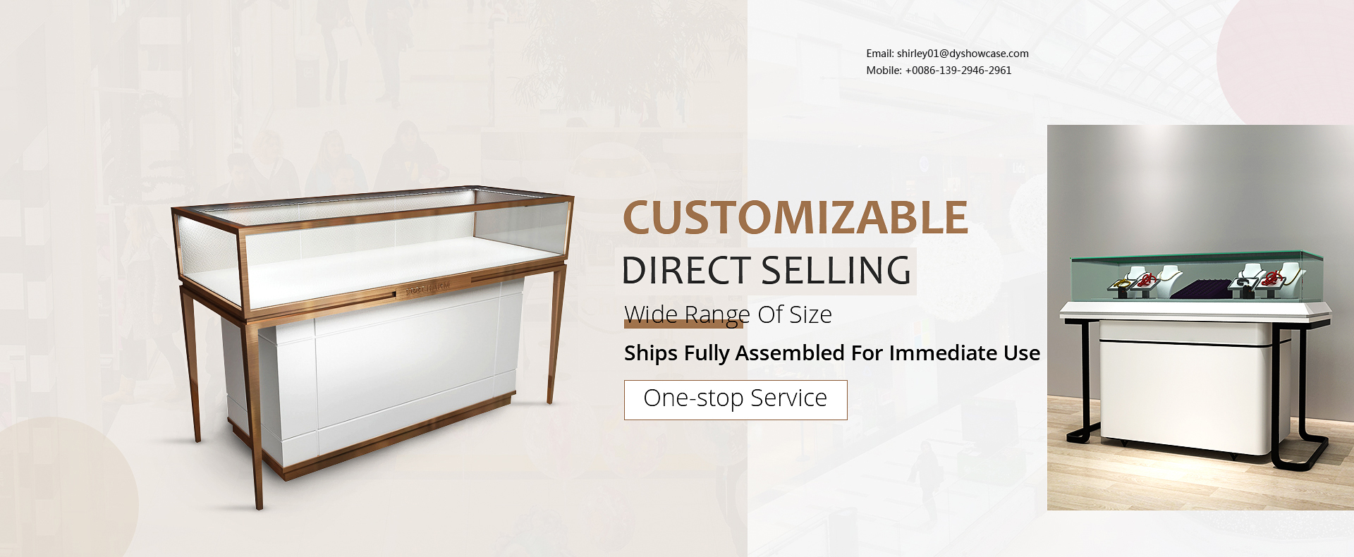Showcases Jewelry Display Case Manufacturer