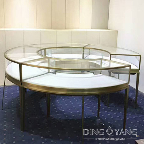 Round Jewelry Display Cases