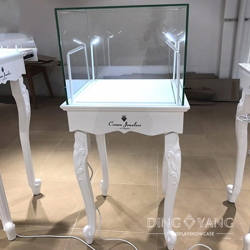 European Style Glass Jewellery Display Cabinet