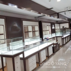 Frameless White Jewelry Display Counter