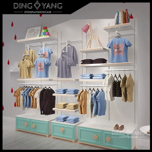 Retail Shop Clothing Display Shelves
