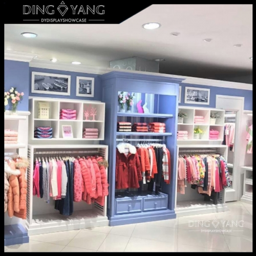 Kid Retail Shop Clothing Display Shelves