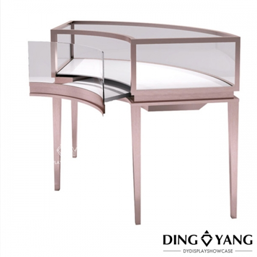 Cambered Display Cases For Jewelry